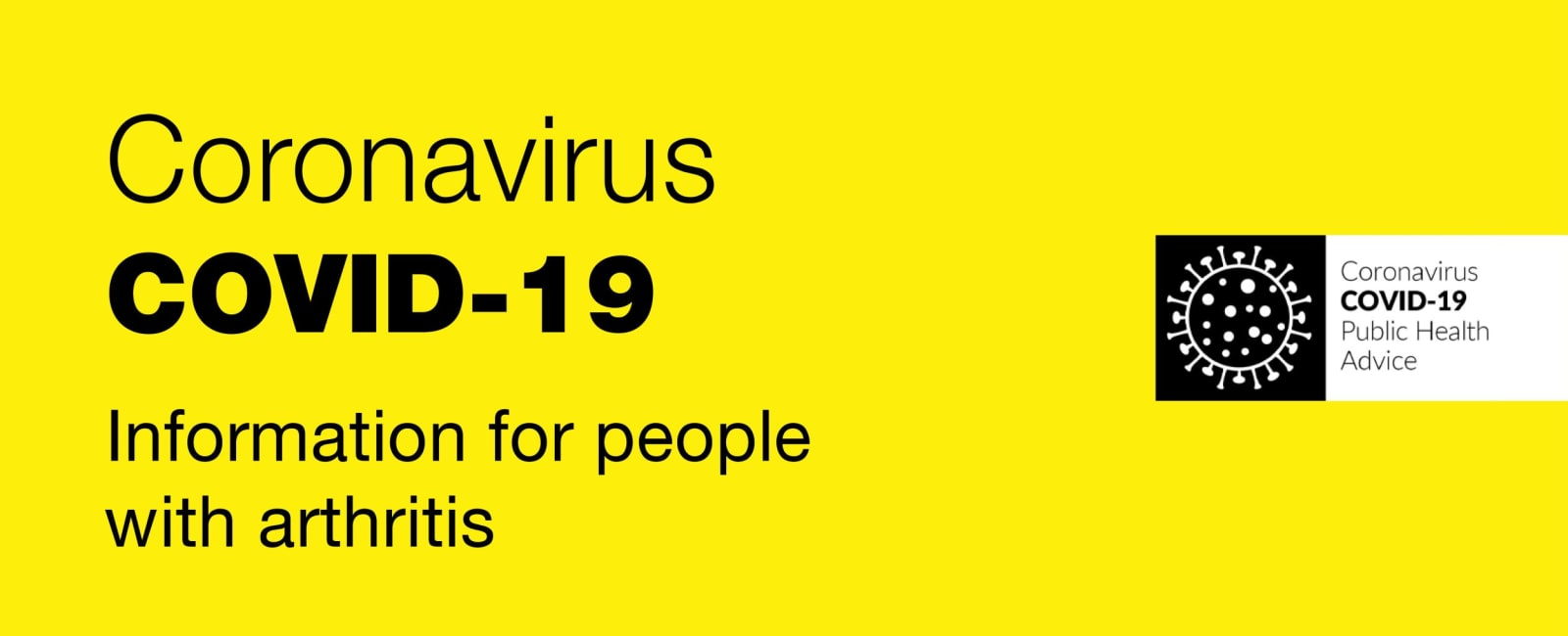 Covid-19 information for people with arthritis banner