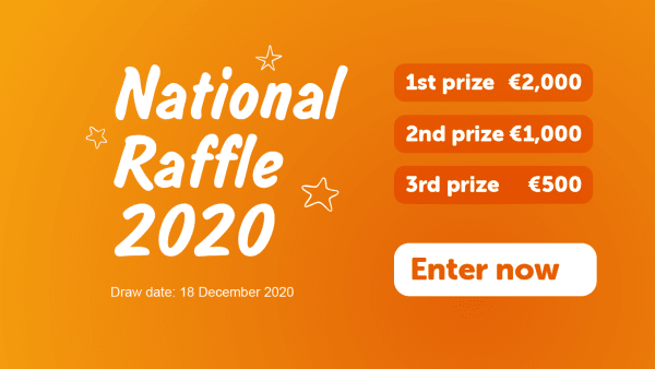 National raffle slider image